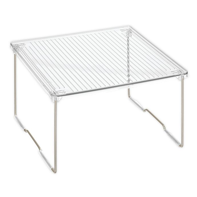 Alternate image 1 for iDesign™ Small Clear Undersink Shelf