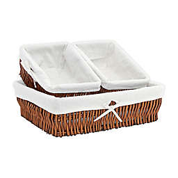 Baum Willow Sweater and Shelf Baskets (Set of 3)