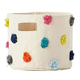 Pehr Pom-Pom Extra-Small Canvas Storage Bin in Rainbow