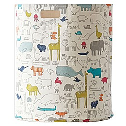 Pehr Noah's Ark Printed Canvas Hamper