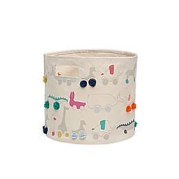 pehr Pull Toys Pom Pom Storage Canvas Storage Bin
