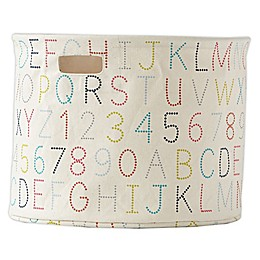 pehr Alphabet Canvas Medium Storage Drum