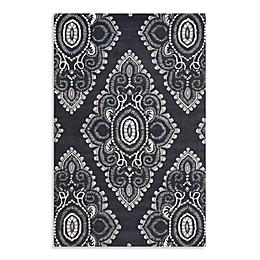 Safavieh Wyndham Amiya Hand-Tufted Wool  Rug in Dark Grey/Ivory