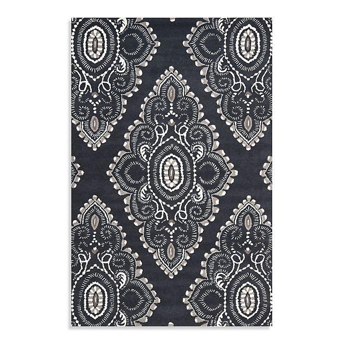 Alternate image 1 for Safavieh Wyndham Amiya 8-Foot x 10-Foot Hand-Tufted Wool  Rug in Dark Grey/Ivory