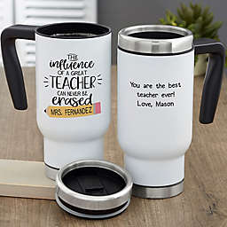 The Influence of a Great Teacher Personalized 14 oz. Commuter Travel Mug