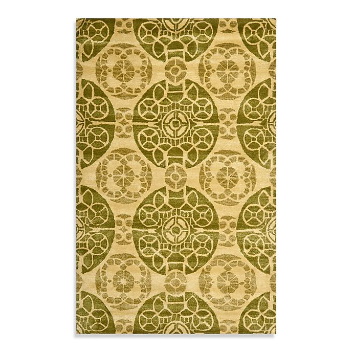 Safavieh Wyndham Irina Hand Tufted Wool Rug In Honey Green