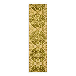 Safavieh Wyndham Irina 2-Foot 3-Inch x 9-Foot Hand-Tufted Wool Runner in Honey/Green