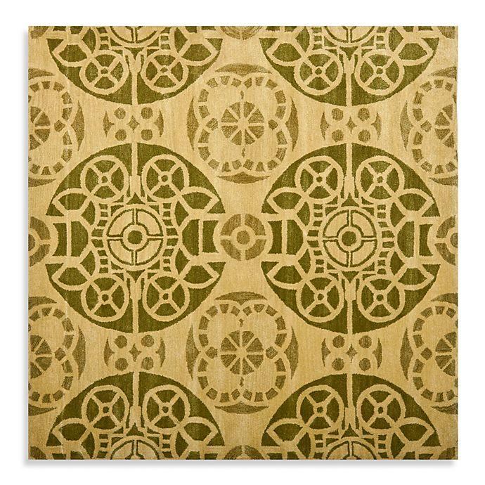 Alternate image 1 for Safavieh Wyndham Irina 7-Foot Square Hand-Tufted Wool Rug in Honey/Green