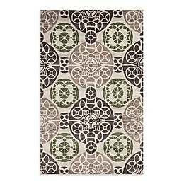 Safavieh Wyndham Irina Hand-Tufted Wool Rug in Ivory/Brown