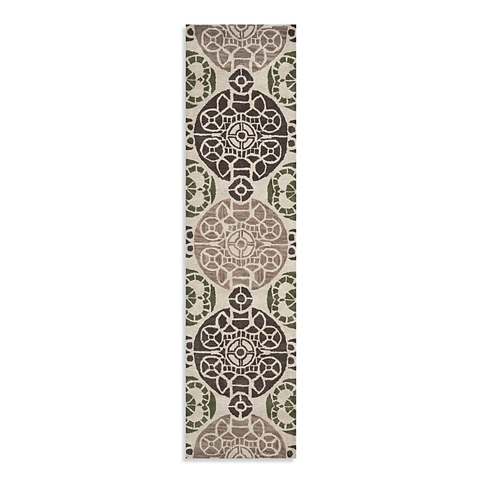 Alternate image 1 for Safavieh Wyndham Irina 2-Foot 3-Inch x 9-Foot Hand-Tufted Wool Runner in Ivory/Brown
