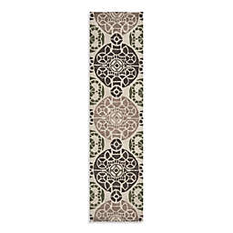 Safavieh Wyndham Irina 2-Foot 3-Inch x 9-Foot Hand-Tufted Wool Runner in Ivory/Brown