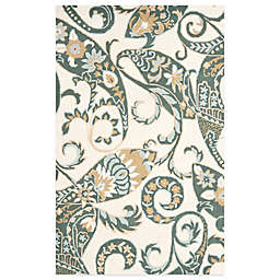 Safavieh Wyndham Nimes Paisley Hand-Tufted Wool Rug in Ivory/Multi