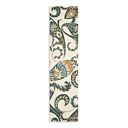 Safavieh Wyndham Nimes Paisley 2-Foot 3-Inch x 9-Foot Hand-Tufted Wool Runner in Ivory/Multi