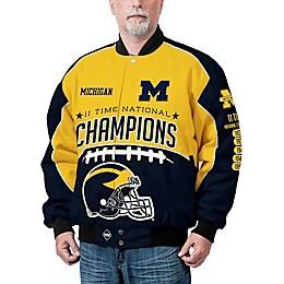University of Michigan Men's Commemorative Cotton Twill Jacket