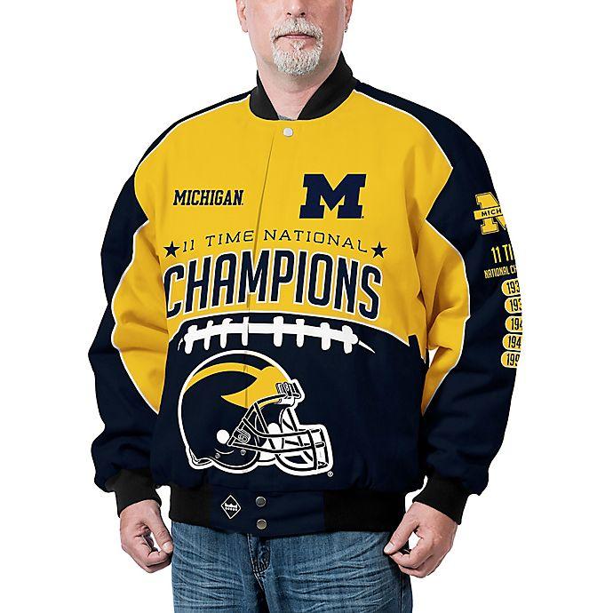 Alternate image 1 for University of Michigan Men's Commemorative Cotton Twill Jacket