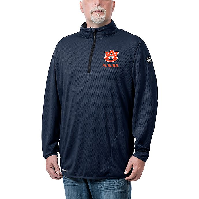 Alternate image 1 for Auburn University Flow Q-Zip Jacket in Navy