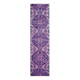 Safavieh Wyndham Irina 2-Foot 3-Inch x 9-Foot Hand-Tufted Wool Runner in Purple