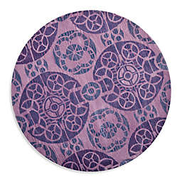 Safavieh Wyndham Irina 7-Foot Round Hand-Tufted Wool Rug in Purple