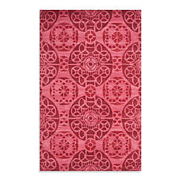 Safavieh Wyndham Irina 5-Foot x 8-Foot Hand-Tufted Wool Accent Rug in Red