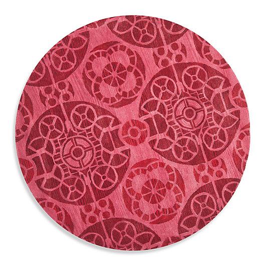 Alternate image 1 for Safavieh Wyndham Irina 7-Foot Round Hand-Tufted Wool Rug in Red