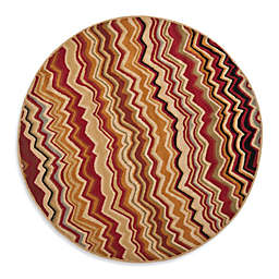 Safavieh Wyndham Amber Flame 7-Foot Round Hand-Tufted Wool Rug in Red/Multi