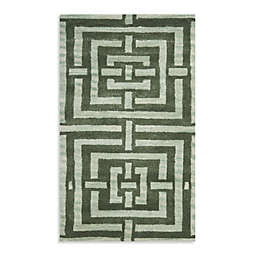Safavieh Wyndham Euclid 2-Foot 6-Inch x 4-Foot Hand-Tufted Wool Accent Rug in Sage Green