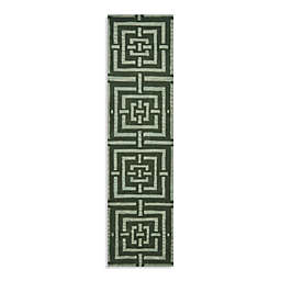 Safavieh Wyndham Euclid 2-Foot 3-Inch x 9-Foot Hand-Tufted Wool Runner in Sage Green