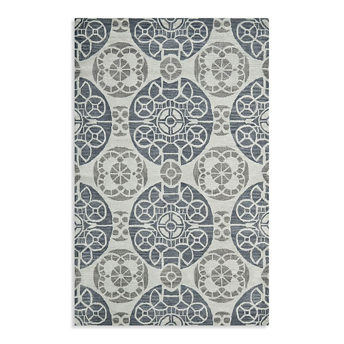 Alternate image 1 for Safavieh Wyndham Irina 4-Foot x 6-Foot Hand-Tufted Wool Accent Rug in Silver/Blue