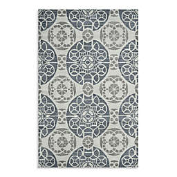 Safavieh Wyndham Irina 4-Foot x 6-Foot Hand-Tufted Wool Accent Rug in Silver/Blue
