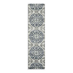 Safavieh Wyndham Irina 2-Foot 3-Inch x 9-Foot Hand-Tufted Wool Runner in Silver/Blue