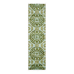 Safavieh Wyndham Irina 2-Foot 3-Inch x 9-Foot Hand-Tufted Wool Runner in Turquoise/Green