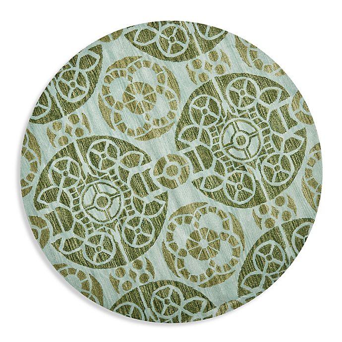Safavieh Wyndham Turquoise Green 8 Ft X 10 Ft Area Rug: Buy Safavieh Wyndham Irina 7-Foot Round Hand-Tufted Wool