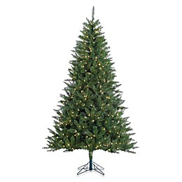 Vickerman 7-Foot 6-Inch Lincoln Fir Pre-Lit Christmas Tree with Clear Lights
