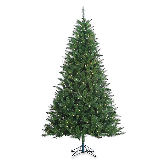 Alternate image 1 for Vickerman 7-Foot 6-Inch Lincoln Fir Pre-Lit Christmas Tree with White LED Lights