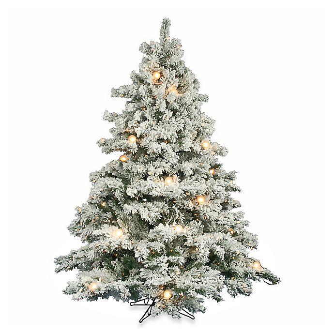 Vickerman Flocked Alaskan Pine Pre Lit Christmas Tree With