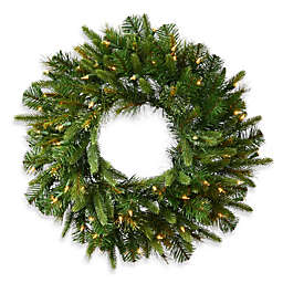 Vickerman Cashmere Pine Pre-Lit Christmas Wreath with White LED Lights