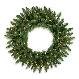 Vickerman Camdon Fir Dura-Lit Pre-Lit Wreath with Clear Lights