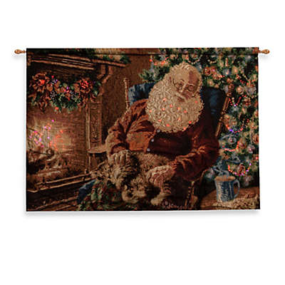 36-Inch x 26-Inch A Long Winter's Nap Fiber Optic Tapestry