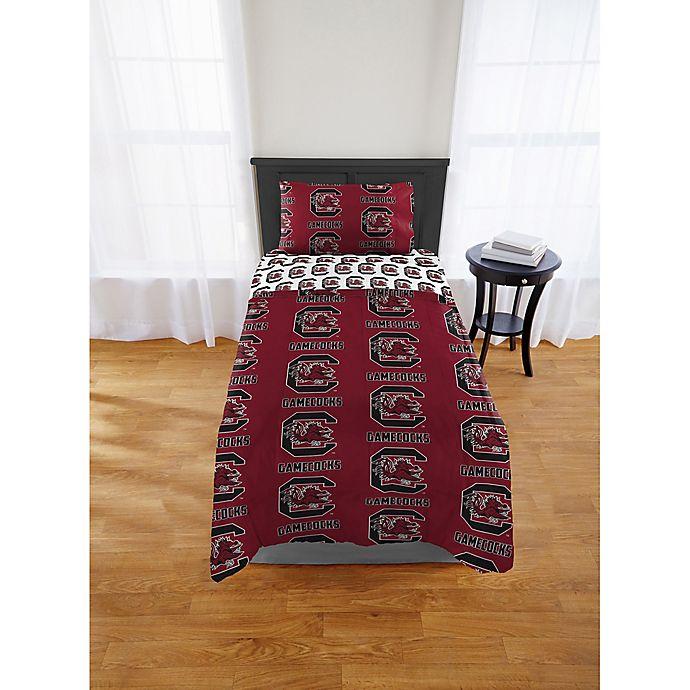 Alternate image 1 for South Carolina Gamecocks Bed in a Bag Comforter Set