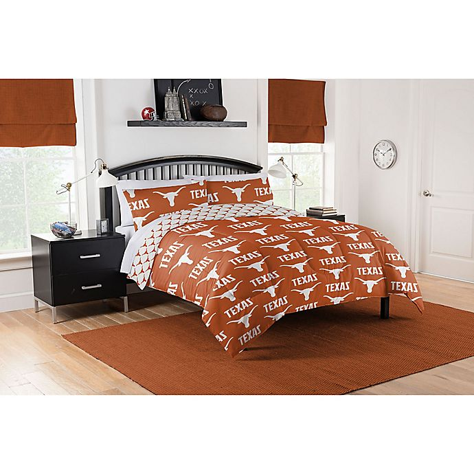 Texas Longhorns Bed In A Bag Comforter, Texas Longhorn Bathroom Set