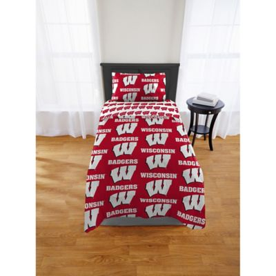 Wisconsin Badgers Bed in a Bag Comforter Set | Bed Bath ...
