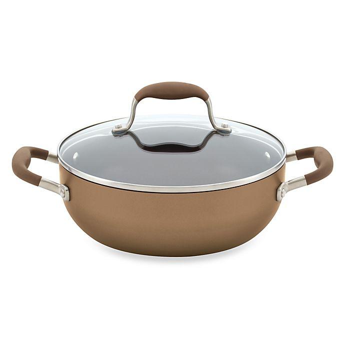 Alternate image 1 for Anolon® Advanced Bronze Hard Anodized Nonstick 3.5 qt. Covered Chef's Casserole