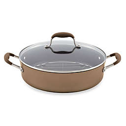 Anolon® Advanced Bronze Hard Anodized Nonstick 5.5 qt. Covered Braiser with Rack