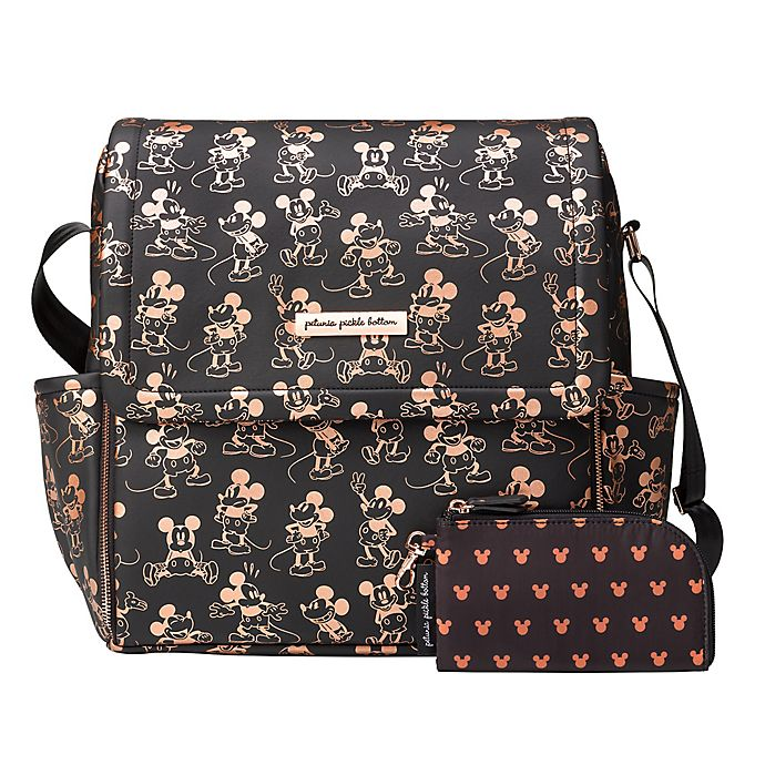 Alternate image 1 for Petunia Pickle Bottom® Metallic Mickey Mouse Boxy Diaper Backpack