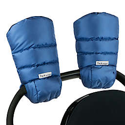7AM Enfant Warmmuff Stroller Gloves with Micro Fleece Lining in Yale Blue