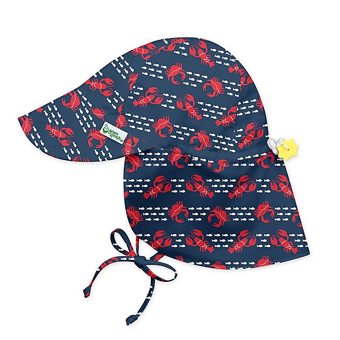 Alternate image 1 for i play.® by green sprouts® Lobster Flap Sun Protection Hat in Navy