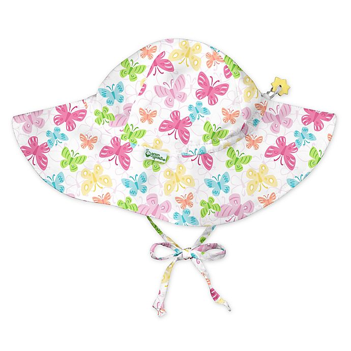 Alternate image 1 for i play.® by green sprouts® Butterfly Brim Sun Protection Hat in White