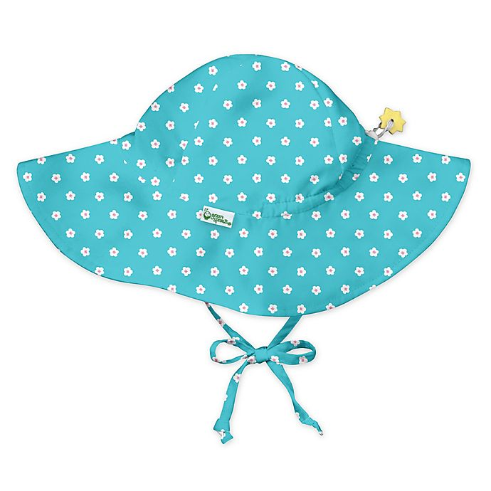 Alternate image 1 for i play.® by green sprouts® Blossom Brim Sun Protection Hat in Aqua