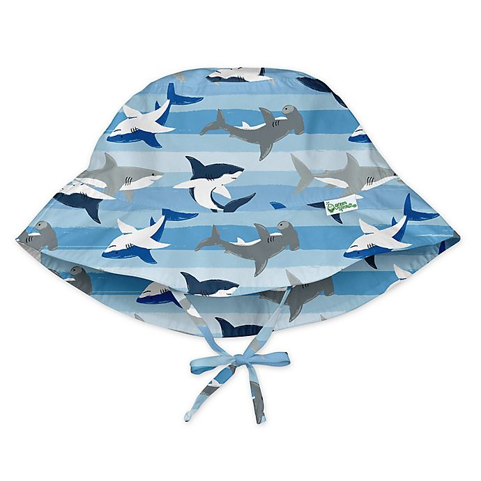 Alternate image 1 for i play.® by green sprouts® Shark Bucket Sun Protection Hat in Blue