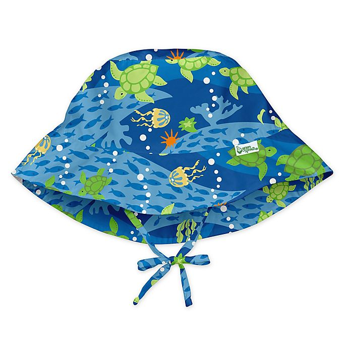 Alternate image 1 for i play.® by green sprouts® Turtle Bucket Sun Protection Hat in Blue